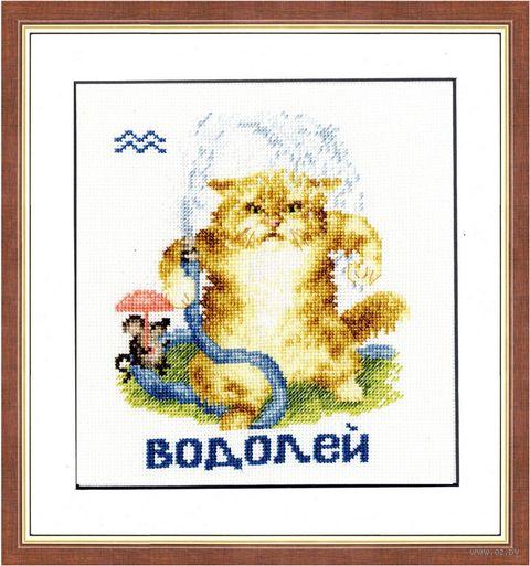 """Вышивка крестом """"Водолей"""" (150х130 мм) — фото, картинка"""