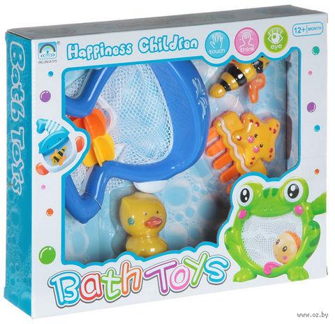 """Набор игрушек для купания """"Кит-сачок с друзьями"""""""