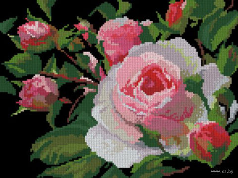 "Вышивка крестом ""Роза"" (300x225 мм) — фото, картинка"