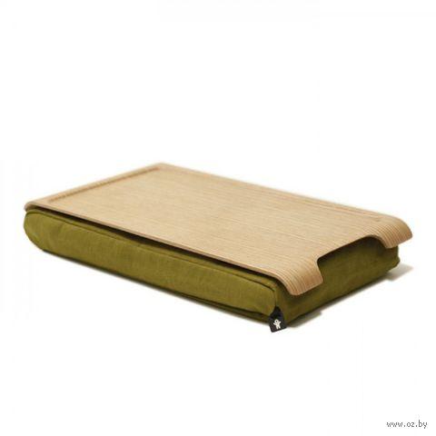 """Подставка с деревянным подносом """"Laptray"""" мини (дерево, оливка)"""