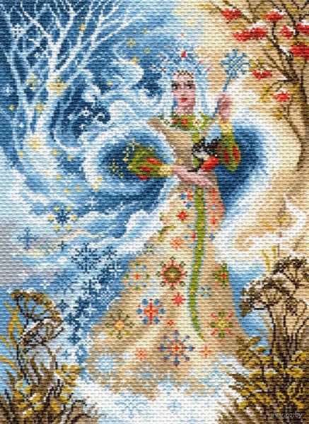 "Канва с нанесенным рисунком ""Волшебница зима"""