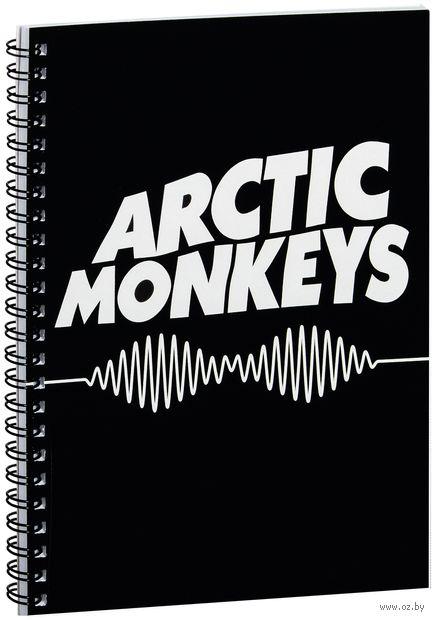 """Блокнот в клетку """"Arctic Monkeys"""" (A5; арт. 066) — фото, картинка"""