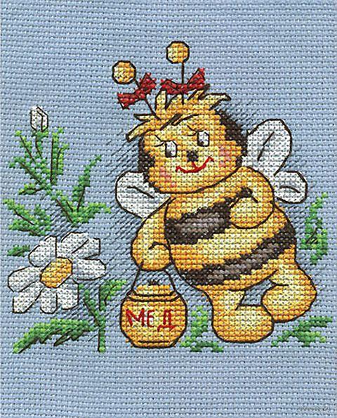"Вышивка крестом ""Душистый мед"" (130х130 мм) — фото, картинка"