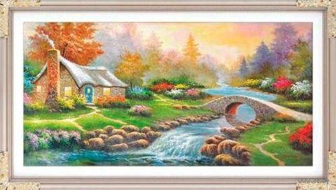 """Алмазная вышивка-мозаика """"Осенний день"""" (880х440 мм) — фото, картинка"""