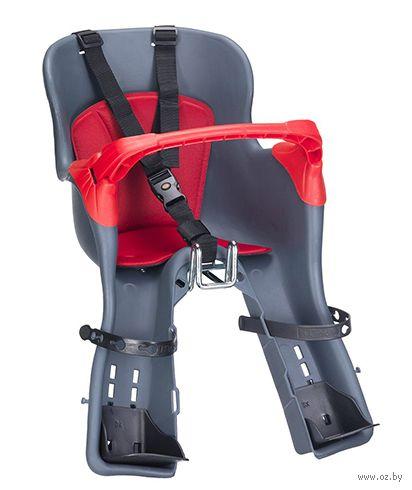 """Велокресло детское переднее """"KIKI TS"""" (тёмно-серое) — фото, картинка"""