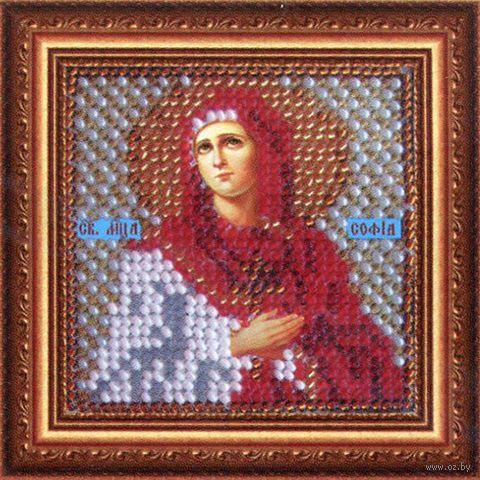"""Вышивка бисером """"Св. Мученица Софья"""" (65х65 мм) — фото, картинка"""