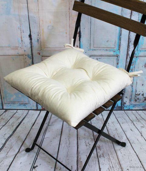 """Подушка на стул """"Velours"""" (42х42 см; молочная) — фото, картинка"""