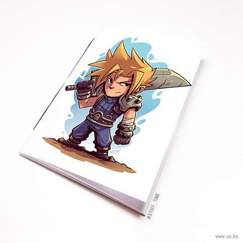 "Блокнот белый ""Final Fantasy"" А5 (арт. 886)"