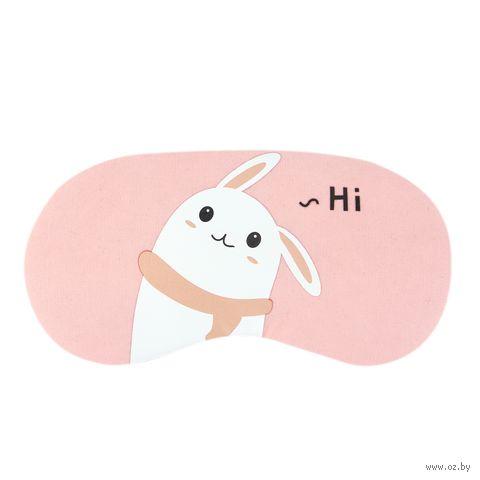 """Маска для сна """"Hello. Rabbit"""" — фото, картинка"""
