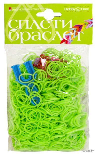 """Набор для плетения из резиночек """"Неоновый зеленый"""" (1000 шт.) — фото, картинка"""