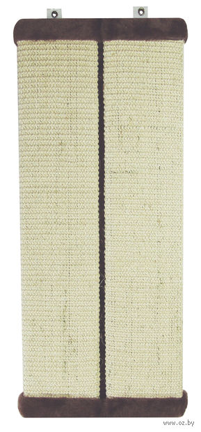 Когтеточка с креплением на стену (56х11 см; коричневая) — фото, картинка