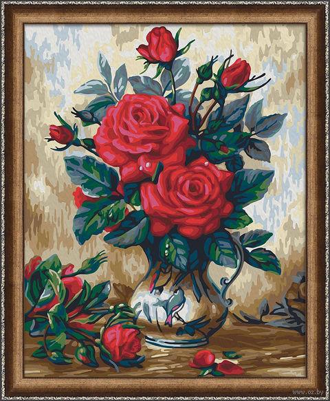 """Картина по номерам """"Прекрасные розы"""" (400х500 мм) — фото, картинка"""