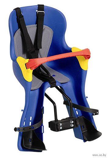 """Велокресло детское переднее """"KIKI TS"""" (синие) — фото, картинка"""