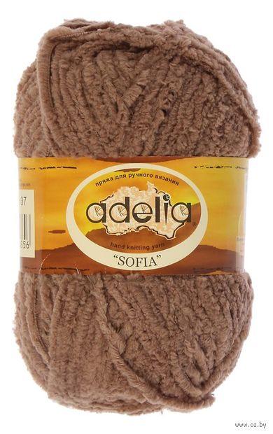 "Пряжа ""Adelia. Sofia №37"" (50 г; 90 м; светло-коричневый) — фото, картинка"