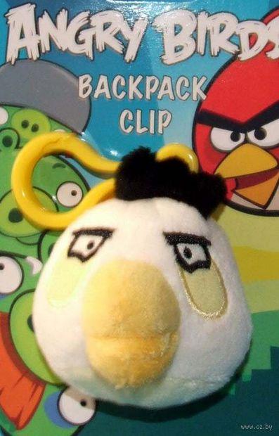 """Мягкая игрушка-брелок """"Angry Birds белая"""""""
