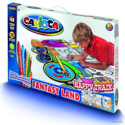 """Набор для рисования """"Carioca Kid's World"""" (поезд; 72 предмета)"""