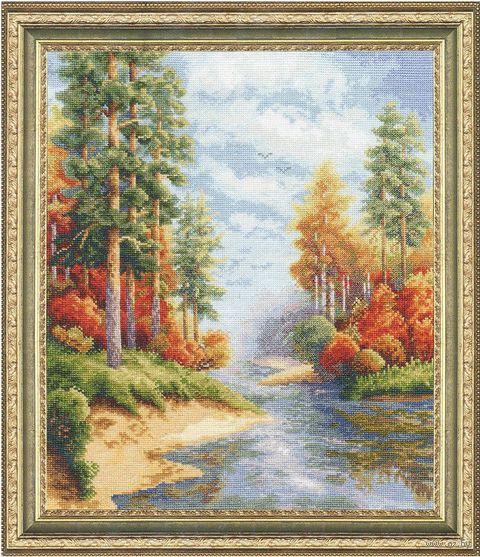 """Вышивка крестом """"Осень"""" (310х260 мм) — фото, картинка"""