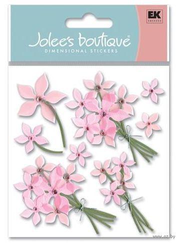 """Стикеры для скрапбукинга """"Джоли бутик. Розовые цветы"""" (арт. EKS-SPJB236)"""