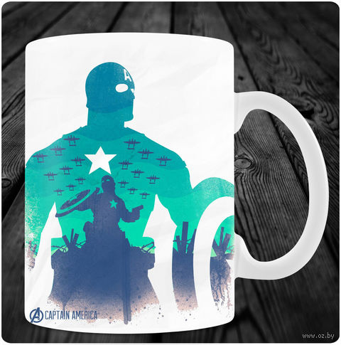 "Кружка ""Капитан Америка"" (арт. 2) — фото, картинка"