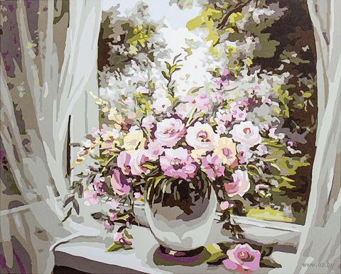 "Картина по номерам ""Букет на окне"" (400х500 мм; арт. PC4050123) — фото, картинка"