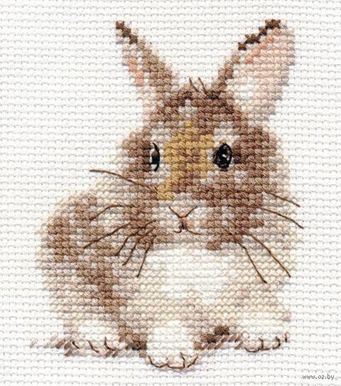 "Вышивка крестом ""Крольчонок"" (90х50 мм) — фото, картинка"