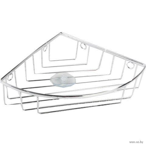 Полка для ванной угловая металлическая (220х220х65 мм)