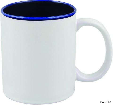 Кружка керамическая (320 мл; белый/синий)