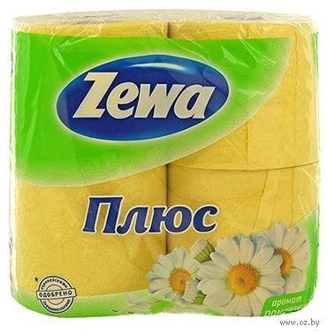"""Туалетная бумага Zewa Плюс """"Ромашка"""" (4 рулона)"""