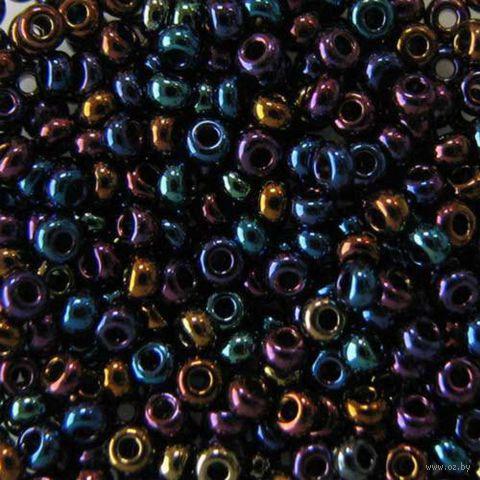 Бисер №59205 (черный, радужный)