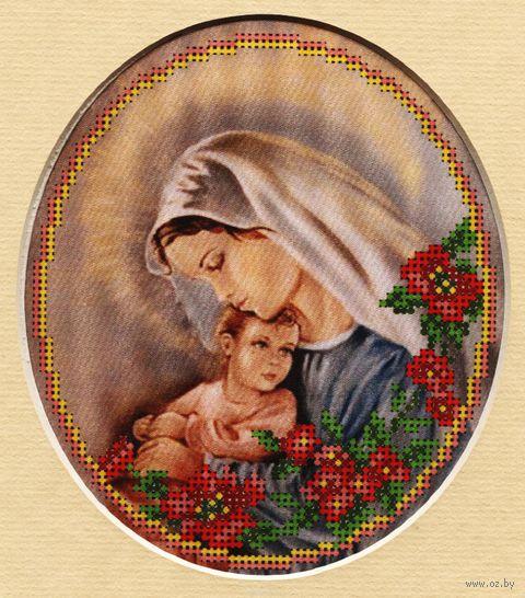 """Вышивка бисером """"Мать и дитя"""" (с паспарту)"""