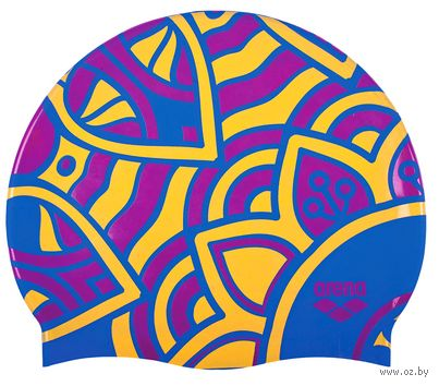 "Шапочка для плавания ""Print 2"" (jade bright; арт. 1E368 750) — фото, картинка"