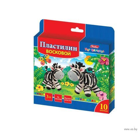 """Пластилин восковой """"Забавные зверята"""" (10 цветов) — фото, картинка"""