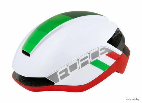 """Шлем велосипедный """"Orca"""" (L-XL; белый/зелёный/красный) — фото, картинка"""