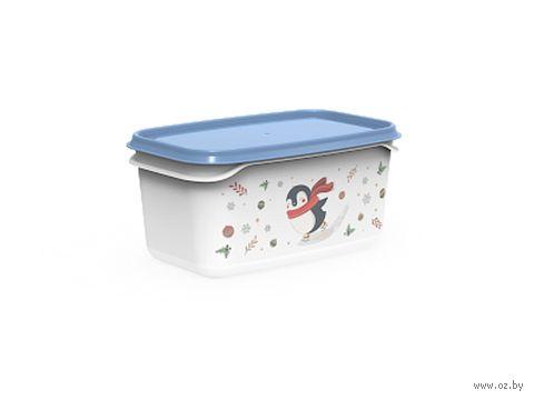 """Контейнер для хранения продуктов """"Christmas"""" (0,5 л; васильковый) — фото, картинка"""