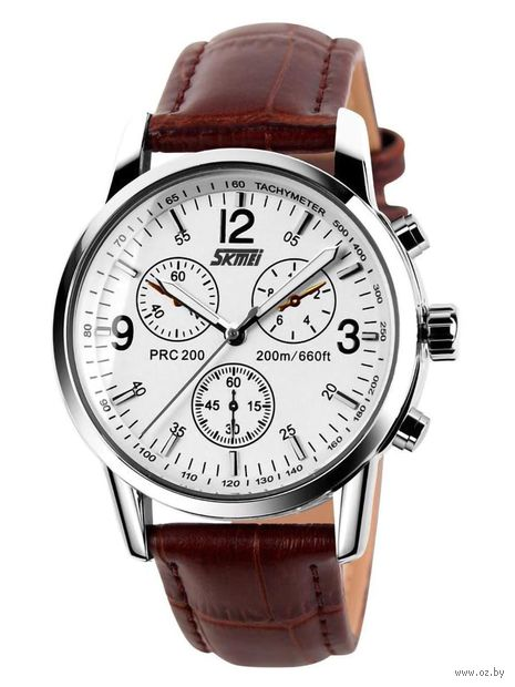 Часы наручные (белые; арт. 9070) — фото, картинка