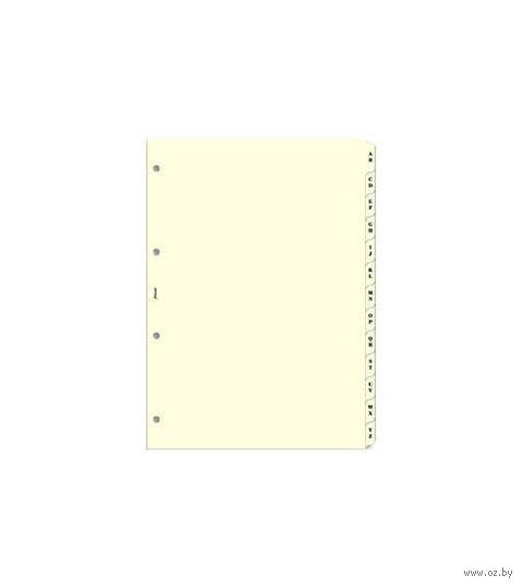 """Комплект Filofax """"Разделители алфавитные, 2 буквы, А-Я"""" (mini, cream)"""