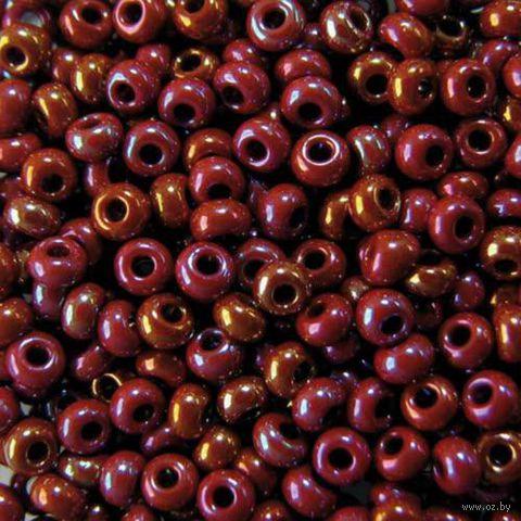 Бисер №14600 (малиново-бордовый, радужный)