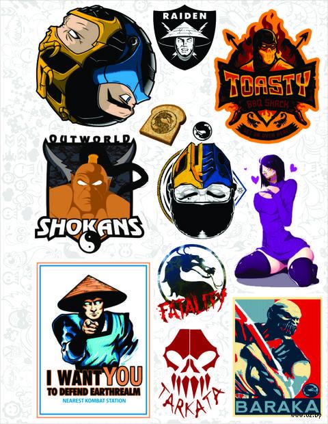 """Набор виниловых наклеек №22 """"Mortal Kombat"""""""