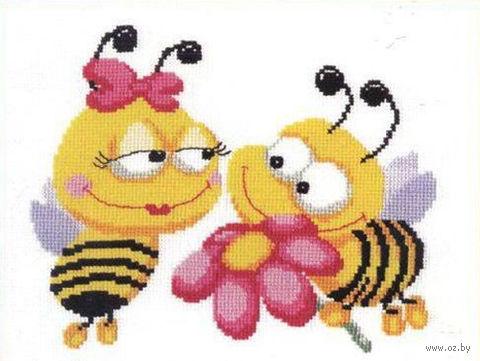 """Вышивка крестом """"Пчелки"""""""