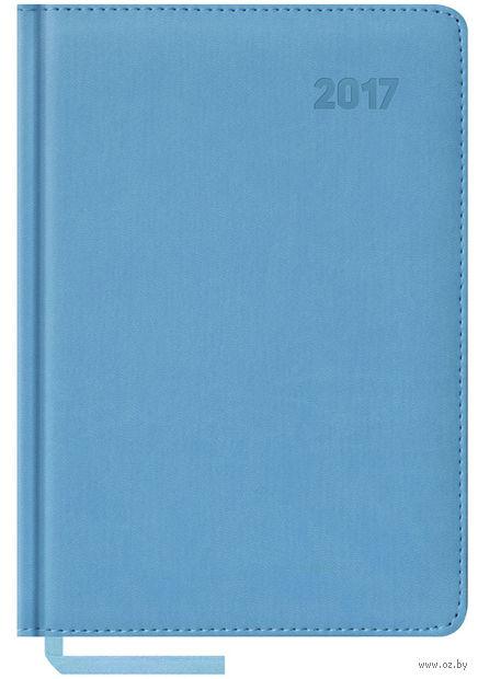 """Ежедневник датированный """"Vivella"""", 2017 (А5; 176 листов; голубой)"""
