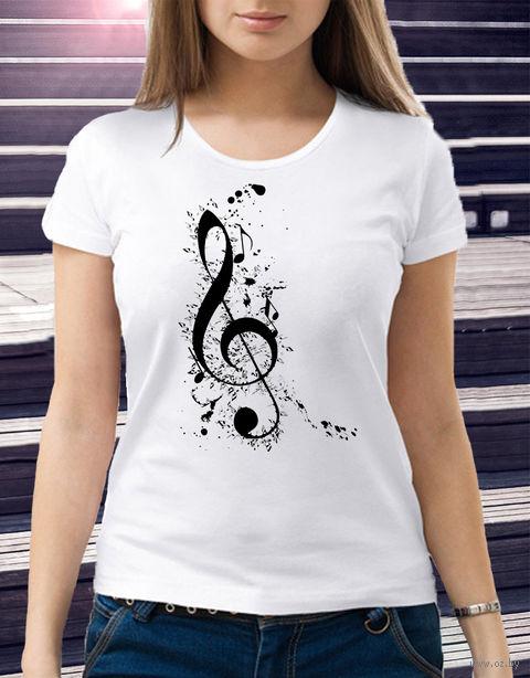 "Футболка женская ""Music"" (размер 50; арт. 4) — фото, картинка"