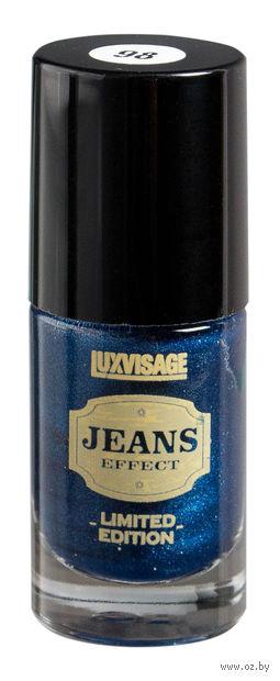 """Лак для ногтей """"Jeans"""" (тон: 98, синий) — фото, картинка"""