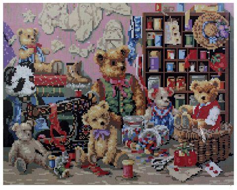 "Алмазная вышивка-мозаика ""Мишки Тедди"" (400x500 мм) — фото, картинка"