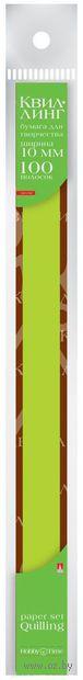 Бумага для квиллинга (300х10 мм; зеленая; 100 шт.) — фото, картинка
