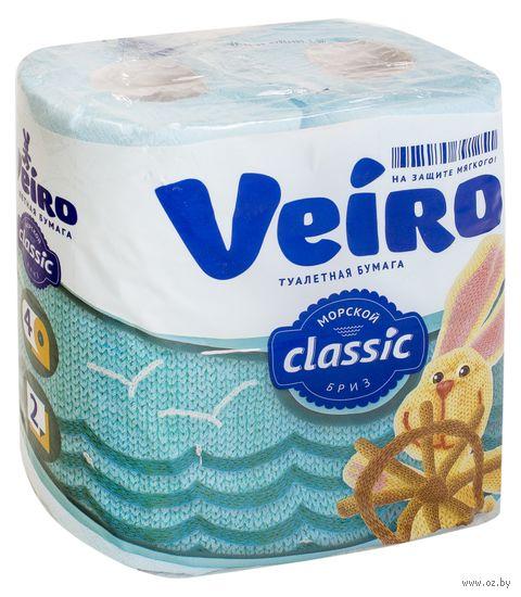 """Туалетная бумага """"Classic. Голубая"""" (4 рулона) — фото, картинка"""