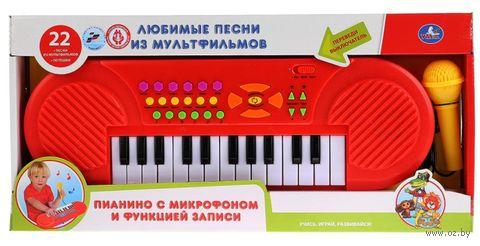 """Пианино """"Любимые песни из мультфильмов"""" (со световыми эффектами) — фото, картинка"""