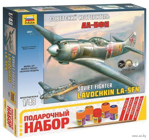 """Сборная модель """"Самолет Ла-5ФН"""" (масштаб: 1/48; подарочный набор) — фото, картинка"""