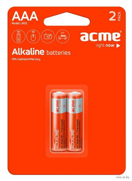 Батарея гальваническая щелочная LR03 AAA (2 штуки)