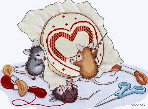 """Вышивка крестом """"Мышки рукодельницы"""""""