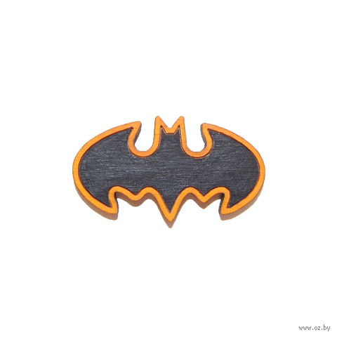 "Значок деревянный ""DC. Бэтмен"" (классический)"